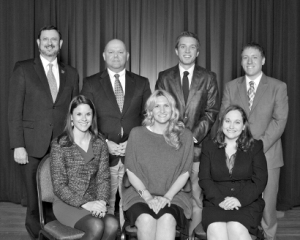 2012 IUP Young Alumni Achievement Award Group Photo B&W