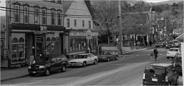 Ludlow Vermont B&W